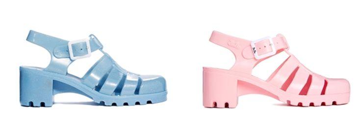 Sandalias de agua, cangrejeras de goma o jelly shoes