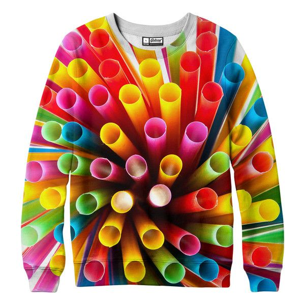 """belovedwear® presents the #Straws Sweatshirt This """"all over"""" print crewneck sweatshirt is made using a special sublimation technique to provide a vivid graphic"""