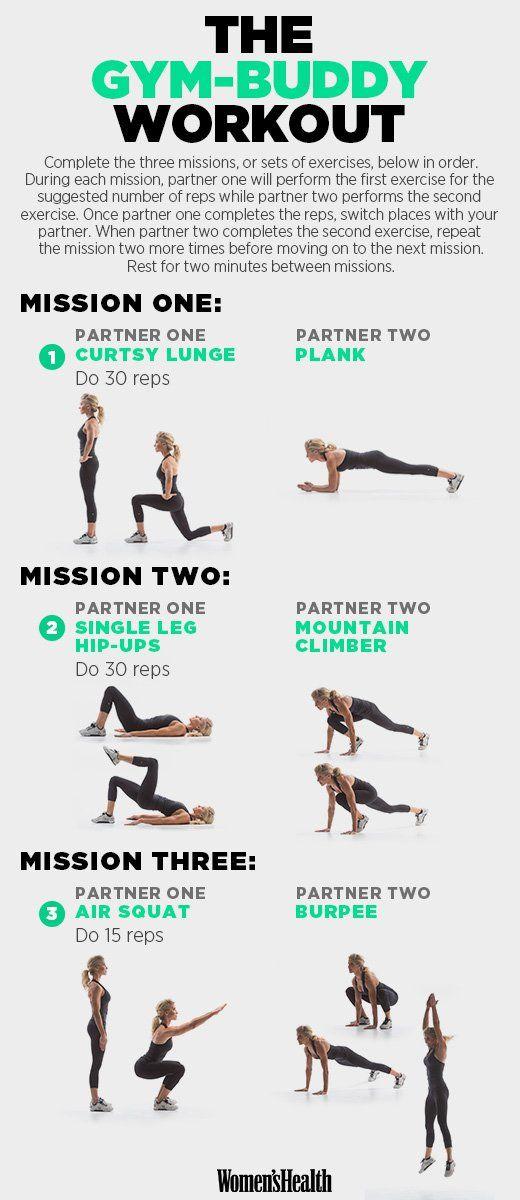 Die perfekte Routine zum Zerkleinern von Kalorien, die Sie mit Ihrem Workout Buddy machen können