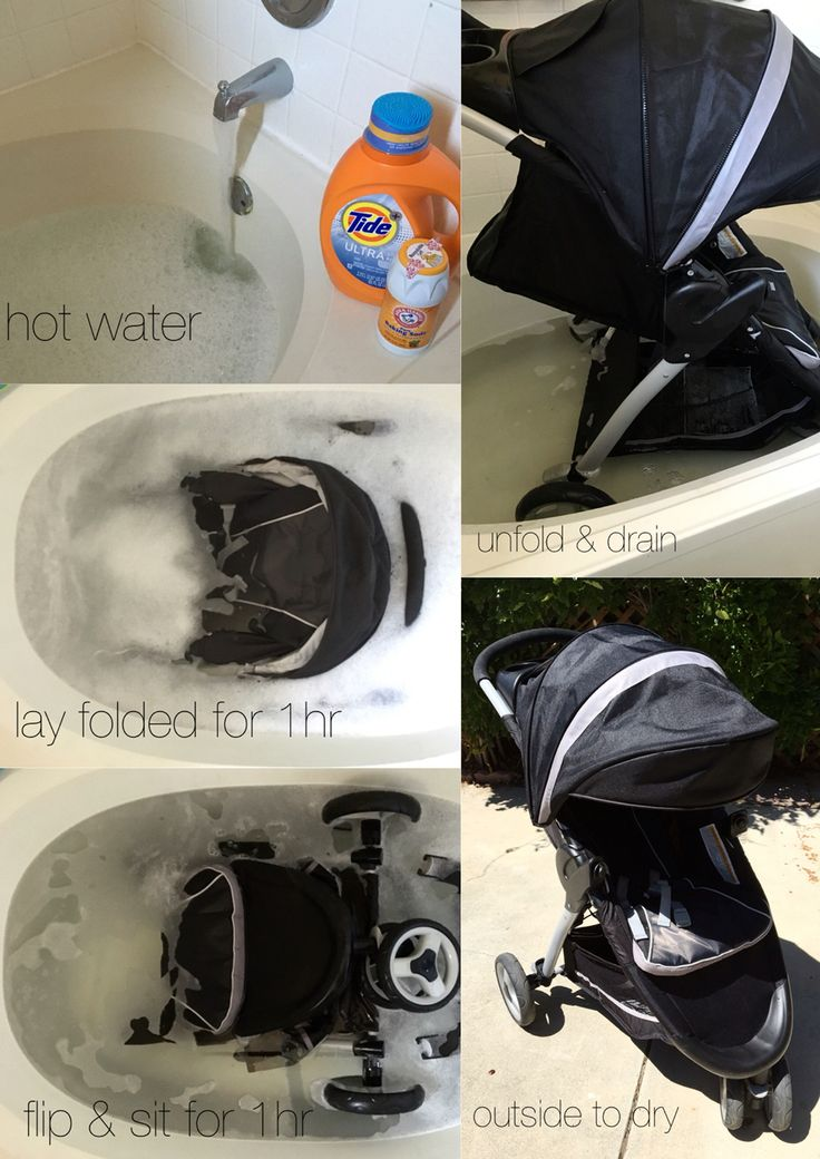 How to clean your stroller. Could also be used for your pack n' play.