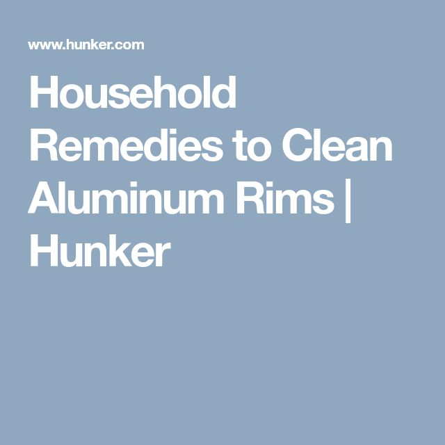 how to clean aluminum wheels with household products