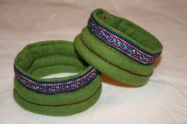 Padded cuffs, after the Mammen find (although the tablet weaving is different here). By Nille Glaesel