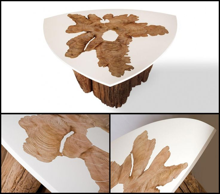 MTH Woodworks Wood-and-Resin-Blended Furniture Designs