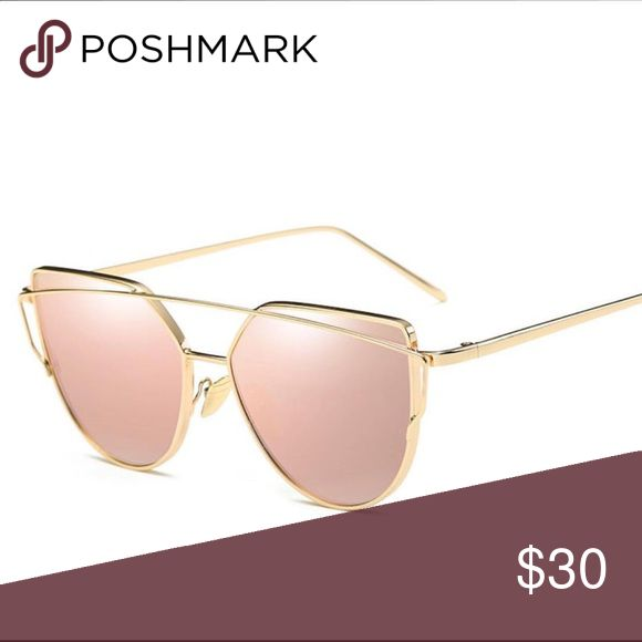 Rose gold sunnies Sleek rose gold sunglasses Accessories Glasses
