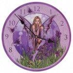 Horloge Murale désign Fée des Fleurs Iris