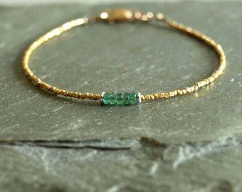 Peridot Bracelet jade orange garnet small gold beads