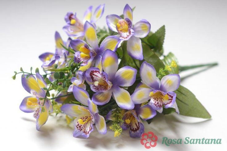 ФЕОБ Букет орхидеи 14 веток (120) синий
