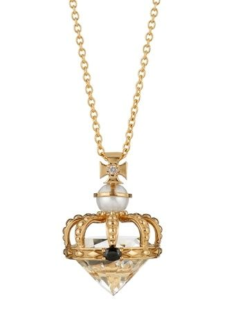 Garrard Diamond Jubilee Pendant with pearl