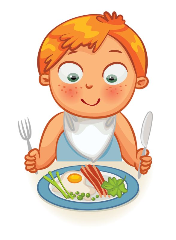 Clip art - Kid - Dinner Time / Eating Time | Kids clipart ...
