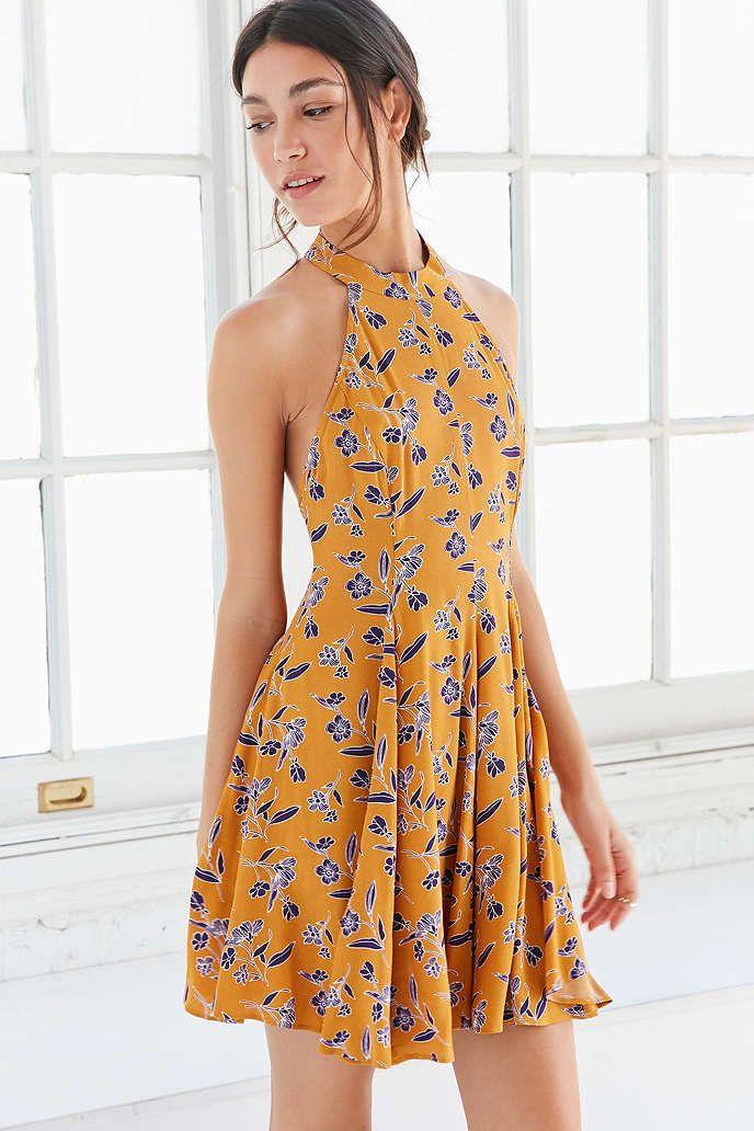 Kimchi Blue Tropi Mock-Neck Mini Dress - Urban Outfitters www.maycloth.com