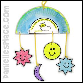 Sun, Moon, Stars Mobile Bible Craft for Sunday School from www.daniellesplace.com