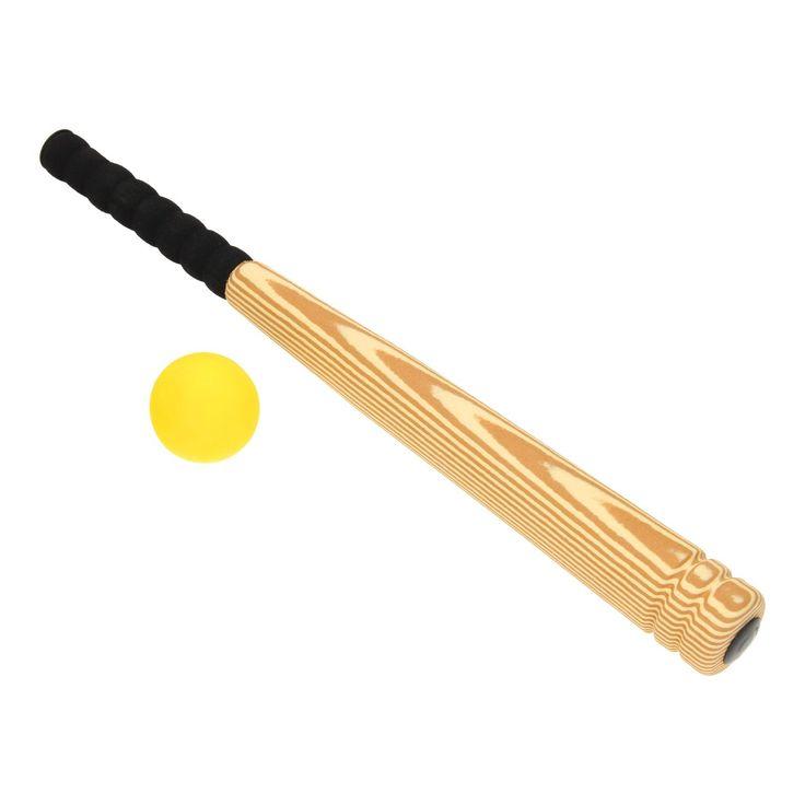 Speel een spelletje honkbal na met deze honkbalknuppel van foam. De knuppel heeft een echte houtlook en een zwart, ergonomisch handvat. Sla de bijgeleverde bal de juiste kant op en ren zo hard als je kan naar het honk! Afmeting: lengte 54 cm - Honkbalknuppel Foam, 54 cm BT
