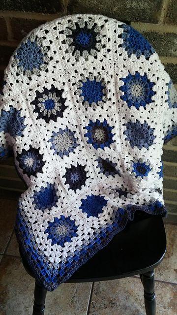 Mejores 12 imágenes de Sunburst Granny Square Blanket - Free Crochet ...