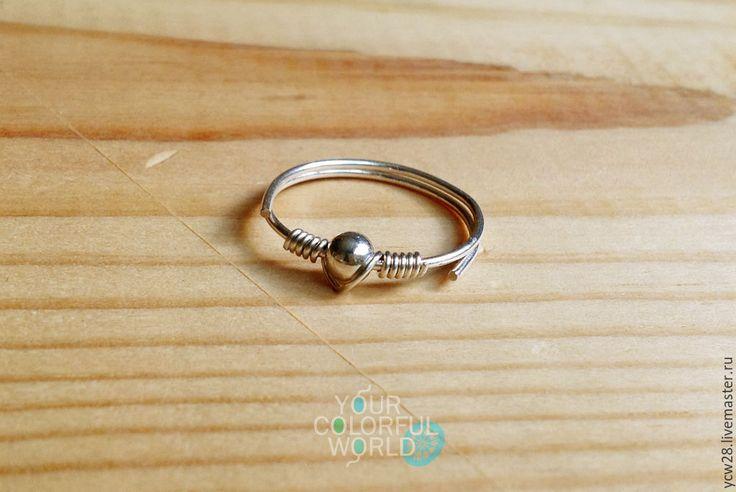 Купить Кольцо Серебряная точка // Ring Silver Dot - авторская ручная работа