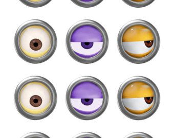 Purple Minion Eyes Printable Images & Pictures - Becuo