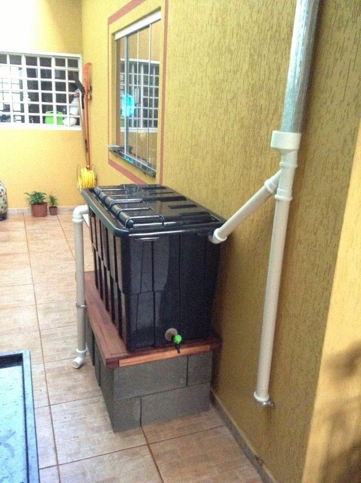 Cisterna residencial para captação da chuva. #sustentabilidade #cisterna #chuva…