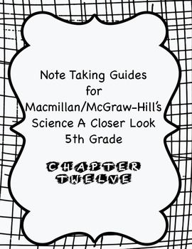 13 best 5th grade images on pinterest closer mcgraw hill and science a closer look note taking guide ch 12 fandeluxe Choice Image