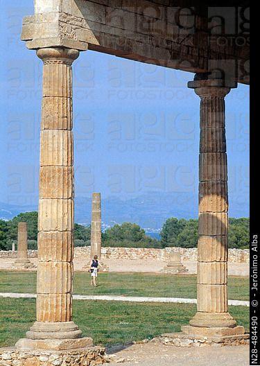 Roman ruins. Ampurias. Girona. Costa Brava. Catalunya.
