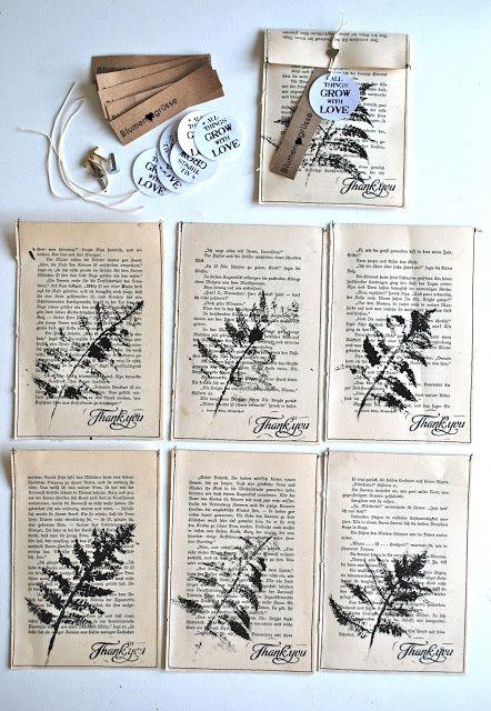 Für ein paar liebe Leute habe ich Umschläge, in denen ich Briefe und Samentüt…