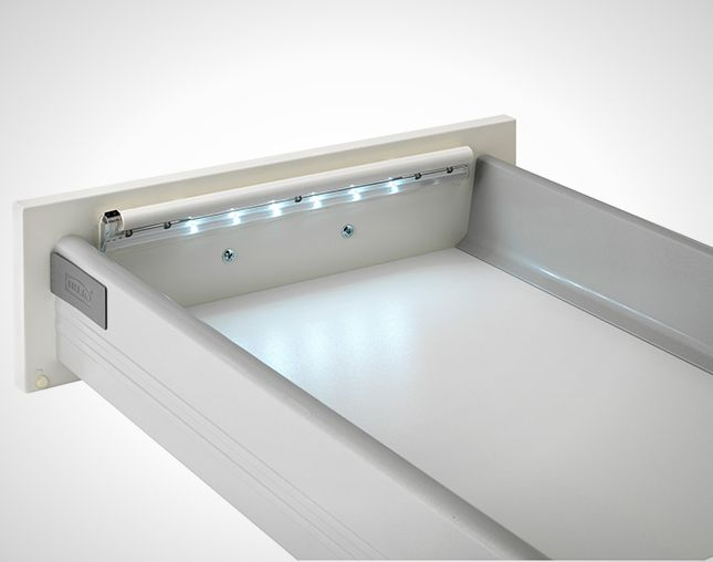 Ikea Dioder lights are battery-operated strips that attach to any drawer, though of course they are designed to fit IKEA-sized furniture. $14.99