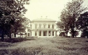 """James B. Eads Residence """"Compton Hill."""" 1507-17 Compton Avenue. (1880) Later used as Bishop Robertson Hall and Loyola High School for boys. Missouri History Museum"""