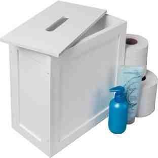 Bathroom storage tidy for toilet rolls, nappies, etc