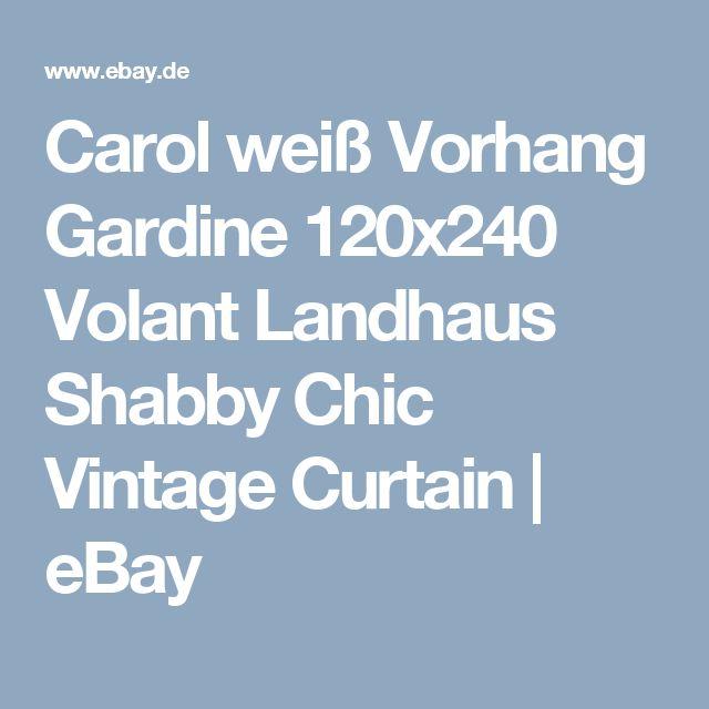 Carol weiß Vorhang Gardine 120x240 Volant Landhaus Shabby Chic Vintage Curtain   eBay