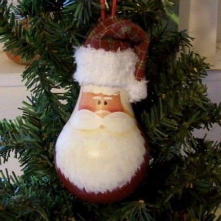 Santa, Penguin, Lightbulb Ornaments - OCCASIONS AND HOLIDAYS
