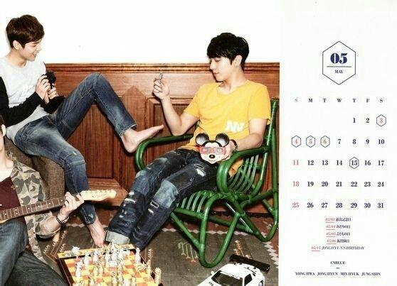 CNBLUE Calendar 2014 May