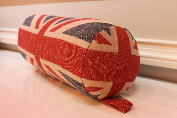 Eurofab Union Jack Bolster Pillow Exclusively from Eurofab   Eurofab.ca   $99.95