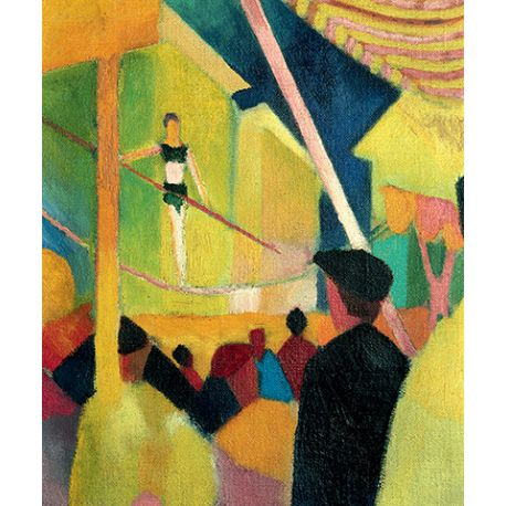 Tightrope walker - August Macke - reprodukcje na płótnie - Fedkolor