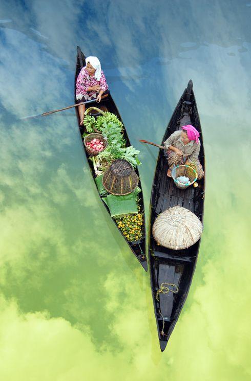 mercado flotante lok batain indonesia sur bormeo fotos 11 Bazares que navegan: el mercado flotante de Lok Baintan (Indonesia)