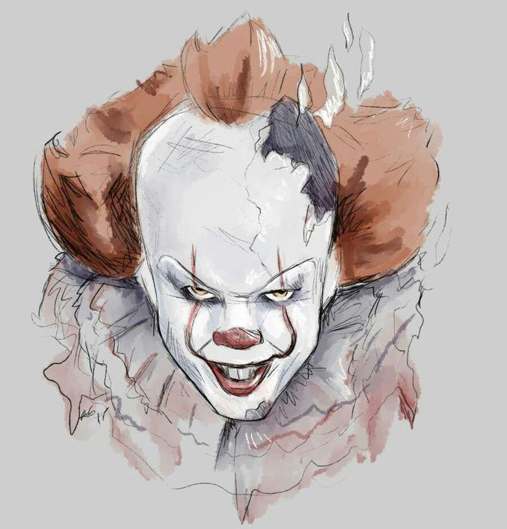 Рисунок клоуна пеннивайза