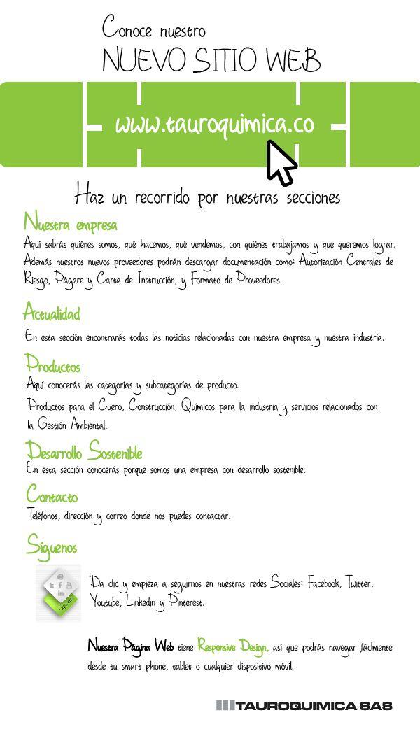 Tenemos nuevo sitio web. Vísitanos www.tauroquimica.co