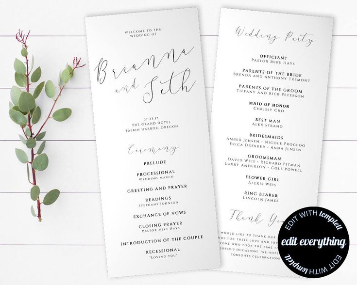 Best 25 wedding program templates ideas on pinterest for Wedding processional order template
