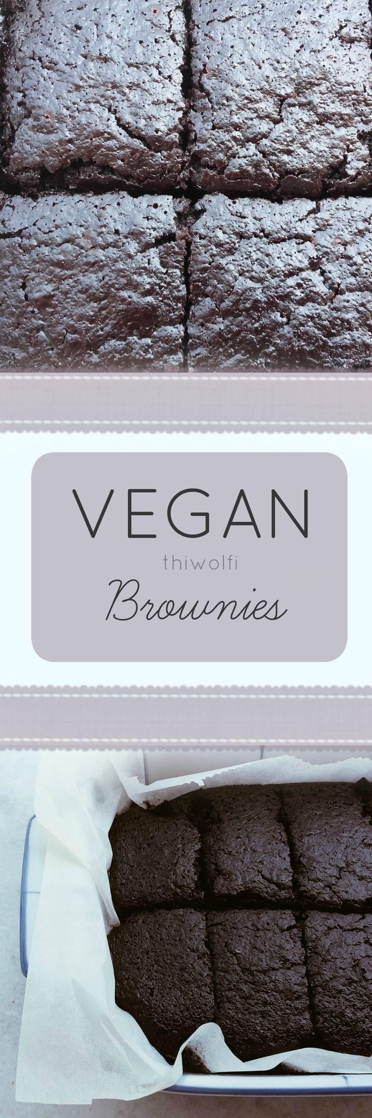 Super easy vegan brownies!