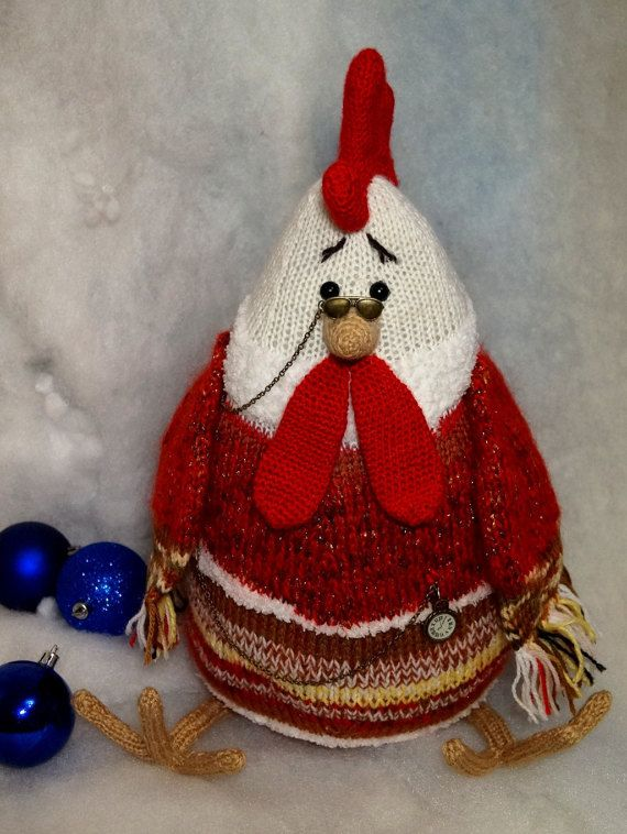 Toy Rooster  Stuffed toy Rooster Red Rooster Big Rooster