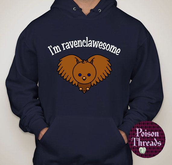 """Hugwarts Pals Unisex Hoodie PREORDER by PoisonThreads on Etsy """"I'm Ravenclawesome"""""""
