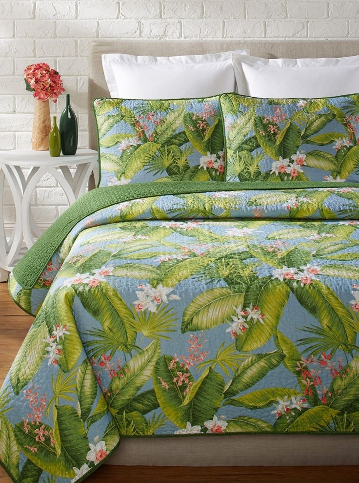 トミーバハマ ベッドキルト3点セット クイーン 寝具 ベッドカバ :bed15:アイディーリ輸入雑貨専門店 - 通販 - Yahoo!ショッピング
