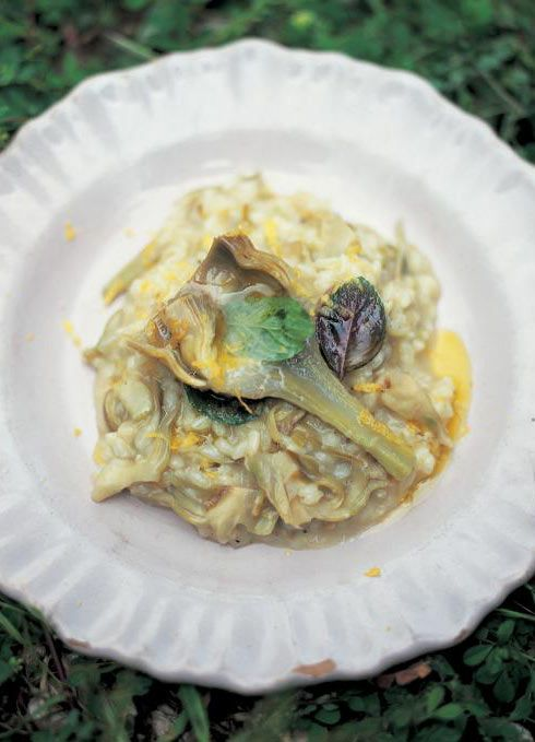 artichoke risotto (risotto ai carciofi) | Jamie Oliver Add A Traveller's Table on Facebook: www.facebook.com/travellerstable