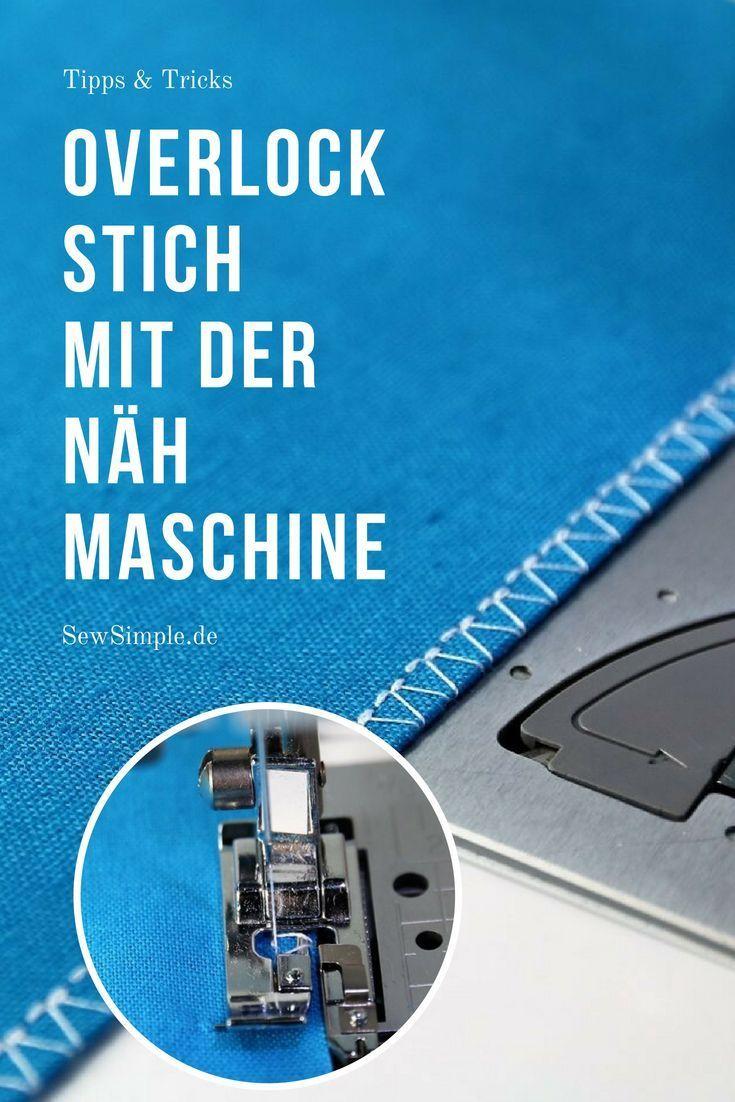 Overlockstich mit der Nähmaschine: So geht der Fake-Overlockstich