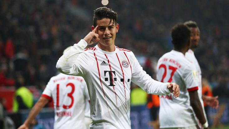 James a 9/10 as provider and scorer for victorious Bayern Munich