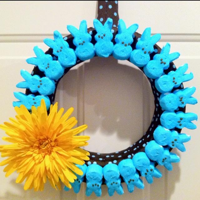 Chic Peeps wreath