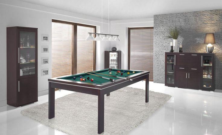 Stół bilardowy California w salonie z meblami z kolekcji Vector