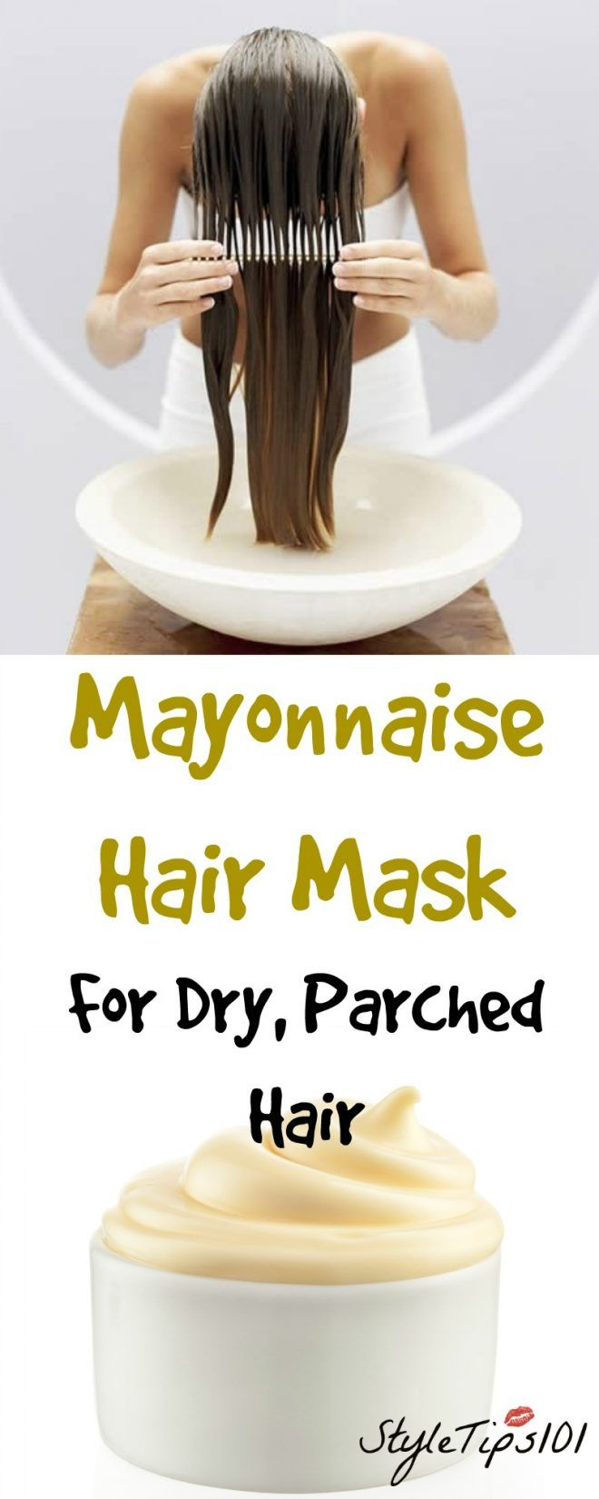 How do you remove mayonnaise from hair?