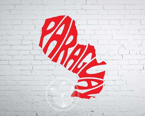 Digital Paraguay Word Art Paraguay jpg png eps svg dxf