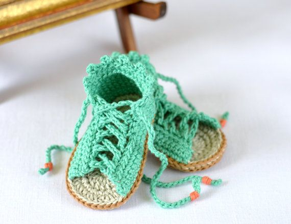 $5.50 Crochet Pattern Baby Gladiator Sandals Baby by matildasmeadow