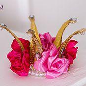 Купить или заказать Костюм принцессы роз в интернет-магазине на Ярмарке Мастеров. карнавальный костюм Принцесса роз для девочки комплектация: платье, корона 134-146 +300…