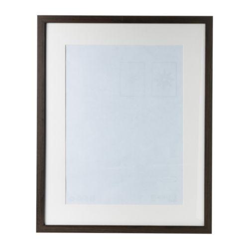 ikea 8x10 ribba walnut frame mat 12x16 matted to 8x10