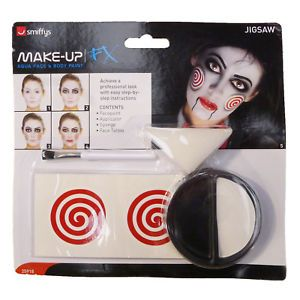 Smiffy's Ladies Official Licensed Saw Jigsaw Halloween Costume And Make Up Kit